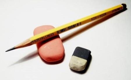 Острый карандаш и стирательная резинка - начало любого рисунка и картины