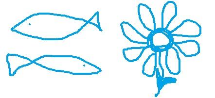 Рыбки, цветочек