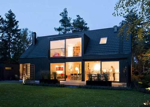 Открытый летний домик в Швеции