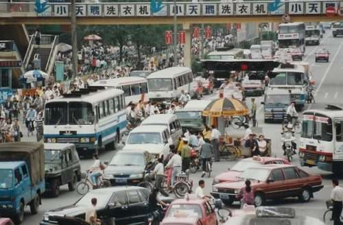 Пробки на дорогах Китая