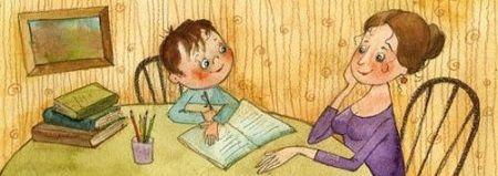 Домашнее обучение - в начале все учим вместе