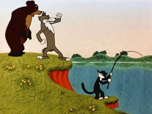 Кот рыболов: Ваши рыбки клевали, да вы их поймать не дали, вот теперь ловите сами.