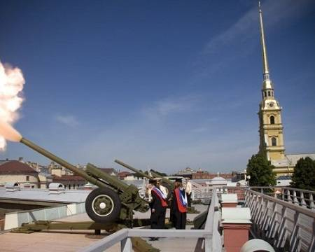 Выстрел в полдень с Петропавловки