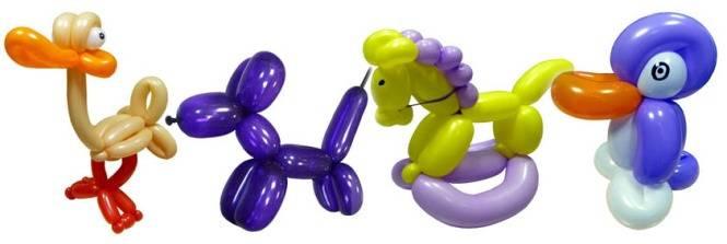 Веселые надувашки из длинных шариков