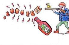 Вкусняшки-рисовашки: Оранжевое пюре с сосиской